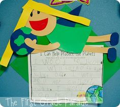 Earth Day writing- do during work on writing or writer's workshop