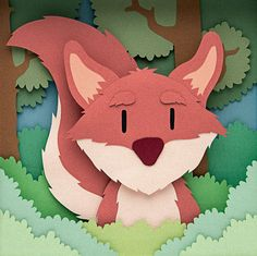 Whimsical Paper Animal Illustrations Vaclav Bicha  Strictlypaper Fox_front_square