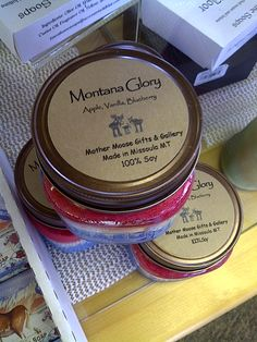 Candles-100% Soy Made in Montana.