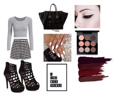 """Untitled #10"" by christine-lacher on Polyvore featuring Emma Cook, CÉLINE, MAC Cosmetics and Serge Lutens"