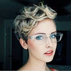 Image result for short pixie cuts with glasses