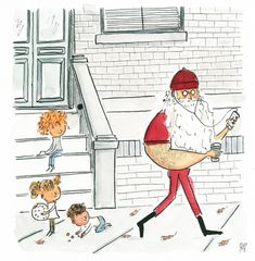 www.migueltanco.com So Happy Holidays ! Watch out for 🎅, is everywhere.    migueltanco illustration christmasillustration santa