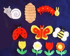 Caterpillar's Wish felt board characters