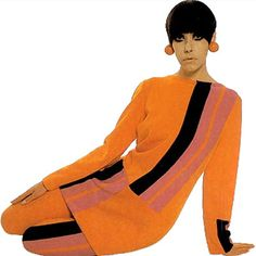 Original Color blocking by Rudi Gernreich in wool knit, fall 1967.