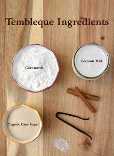 Tembleque Ingredients