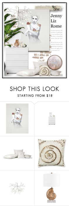 """Flip This ARTist : Jenny Liz Rome [ Contributor's @eyesondesign Special Find]"" by flipthisartist ❤ liked on Polyvore featuring interior, interiors, interior design, home, home decor, interior decorating and Williams-Sonoma"