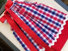 Red White and Blue checked girls by boogerbearpunkinpooh on Etsy, $23.00