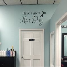 Have a Great Hair Day Wall Decal Beauty Shop Decal Hair Salon Wall Decal Scissors Beautician Hair Stylist Wall Decal Vinyl Wall Decal Beauty This fun decal would be make a statement in your hair salon! Cut from the highest quality indoor matte finish vinyl, it will give you the