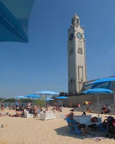 clock tower beach montreal old port urban evelyn reid