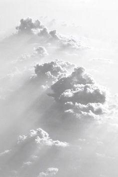 White cloudscape.