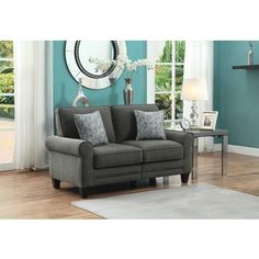 Serta RTA Somerset Collection Vivendo Grey 61-inch Loveseat
