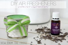 Two ingredients is all it takes to make these chemical-free homemade air fresheners! Perfect for any room in the house, the car, or even your office! You can even make them look cute and blend right in with the decor!