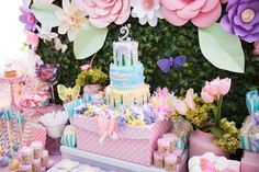 Butterflies and Flowers Birthday Party Birthday Party Ideas   Photo 1 of 17