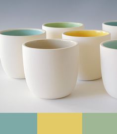 Love the colors Soothing Colors, Ceramic Cups, Color Pallets, Reflexology, Tableware, Palette, Colorful, Eye, Happy