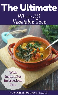 The most simple, delicious whole 30 vegetable soup! You will want to make two batches trust me!
