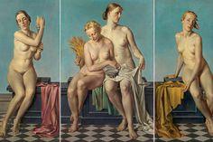 """Meltem Yakın Üldes: Dejenere Sanat, Ben Anlamıyorsam Kötüdür! (Görsel: Adolf Ziegler """"Dört element,"""" bir 1937 triptych vardı Hitler'in mantel) http://kolajart.com/wp/2014/11/18/meltem-yakin-uldes-sanat-algisinda-donusum-coplukteki-sanat-eseri/"""