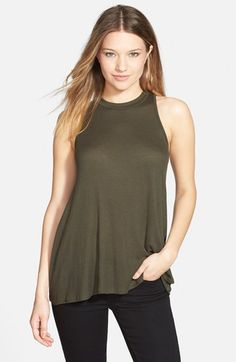 Ten Sixty Sherman Mock Neck Racerback Tank (Juniors) available at #Nordstrom