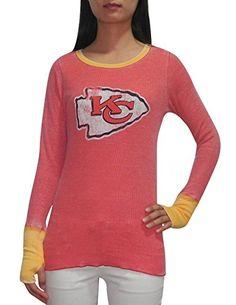 NFL KANSAS CITY CHIEFS Womens Ribbed Long Sleeve Shirt (V… 928991d47