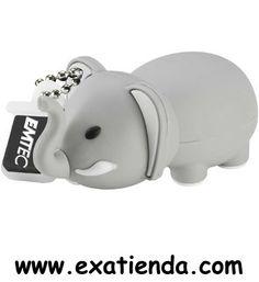Ya disponible Memoria USB 2.0 Emtec 8gb elefante    (por sólo 18.95 € IVA incluído):   -Capacidad: 8GB -Interface: USB 2.0 -Velocidad lectura: 15MB/s -Velocidad escritura: 5MB/s  -Otros:-  -P/N: EKMMD8GM323 Garantía de 24 meses.  http://www.exabyteinformatica.com/tienda/2825-memoria-usb-2-0-emtec-8gb-elefante #memoria #exabyteinformatica