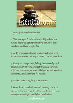 Free Meditation Printable; How to Meditate