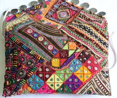 Banjara Clutch bag Bohemian Vintage Clutch by coloursofspirit