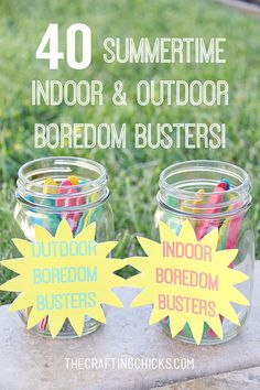 40 Indoor and Outdoor Summer Boredom Busters