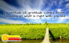"""""""An Attitude of Gratitude comes from focusing on what is right with your life. Think And Grow Rich, Think Big, What Are Rights, Attitude Of Gratitude, Napoleon Hill, Dream Big, Challenges, Inspirational Quotes, Success"""