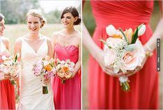 red bridesmaid dresses | CHECK OUT MORE IDEAS AT WEDDINGPINS.NET | #bridesmaids