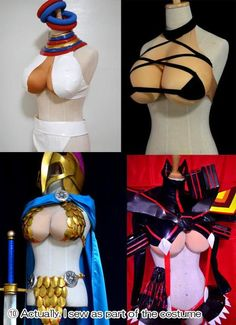 Not everyone has enormous boobs. I don't, for example. And not everyone with large breasts is keen to show them while cosplaying. Fair enough! So here's a smart solution via one industrious cosplayer.