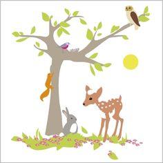 Stickers L'arbre de la forêt