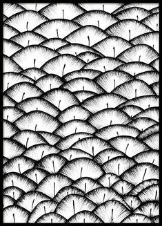 Illustration med fjädermönster...