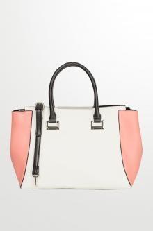 Dvoubarevná kabelka s lemovkou
