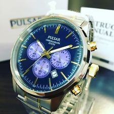 NEGOTIABLE-Brand New Pulsar by Seiko Chronograph Two Tone Watch