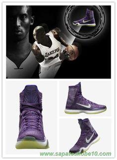 Nike Kobe 10 Elite 641714-012 Roxo