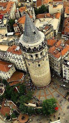 Galata Tower, Istanbul - Ferdi Susler - - Travel tips - Travel tour - travel ideas Turkey Destinations, Capadocia, Islamic Decor, Islamic Art, Istanbul Travel, Archaeological Discoveries, Turkey Travel, Dream City, Beautiful Places To Visit