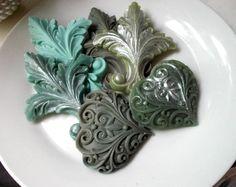 Fruits and Florals Forest Fleur De Lis and Hearts Soap Set