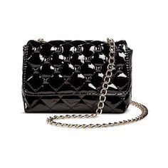 Betseyville Quilted Crossbody Handbag with Studs and Chain Strap -... ($19) ❤ liked on Polyvore featuring bags, handbags, shoulder bags, purses, black, petite, black quilted purse, black handbags, black studded crossbody and black shoulder bag