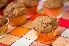 mini pumpkin muffins - #vegan recipe too!