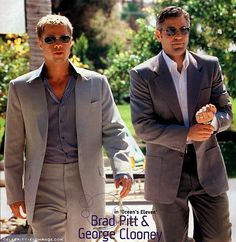 I just love how George and Brad look in this movie!
