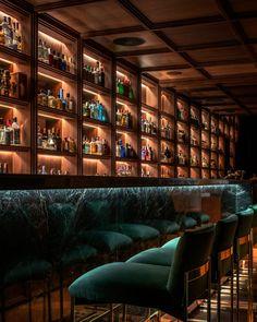 Secret Bar Interior Design by Onion – Wison Tungthunya & W Workspace Bar Interior Design, Pub Design, Lounge Design, Restaurant Interior Design, Bar Lounge, Design Kitchen, Cocktail Bar Interior, Cocktail Bar Design, Restaurant Hotel