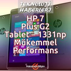HP 7 G2 Tablet – 1311np Bütçenizi aşmayan bir fiyata istediğiniz tüm eğlence ve oyunları sunan güzel ve yetenekli bir tabletin hayalini mi kuruyorsunuz? Daha hafif, daha ince, yeni nesil HP 7 G2 ile tanışın. Dört çekirdekli işlemci ve mükemmel bir ekran sayesinde çok uygun bir fiyata istediğiniz her özelliği sunar... Devamı İçin >>> bit.ly/hp-7-g2-tablet