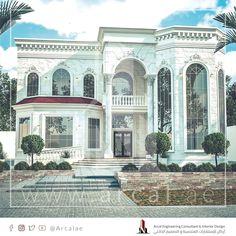 تصميم جديد لأحد زبائننا الكرام فيلا كلاسيك بمساحة 855 متر مربع تتألف من دور ارضي يضم مجلس رجال و مجلس نساء و صالة طعام و صال House Styles Taj Mahal Mansions