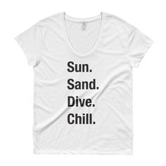 Sun. Sand. Dive. Chill. Blk Ladies' Roadtrip Tee | The Inked Elephant