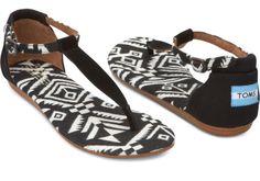 Playa Sandals, geweven, zwart | TOMS