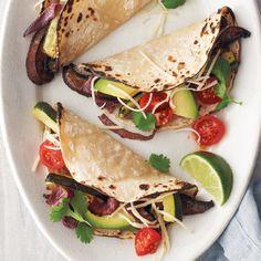 Portobello Mushroom and Zucchini Soft Tacos