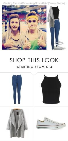 """""""Watching Tom and Danny doing Sport Relief (Danny's Fiancee)"""" by xkidinthedarkx ❤ liked on Polyvore featuring Miss Selfridge, Converse, Blue Nile, mcfly, DannyJones and McBusted"""