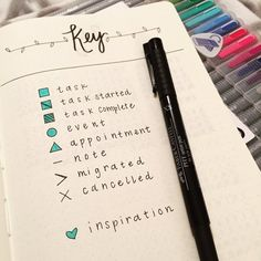 Take your time creating a key that's suited to your lifestyle. Use color to make the important stuff stand out. | 23 Genius Ways You Can Customize Your Bullet Journal