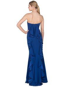 Silk Chiffon Bustier Evening Gown Badgley Mischka | Stuff ...