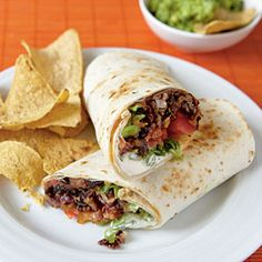 Dinner Tonight: Vegetarian | Chipotle Bean Burritos | CookingLight.com  I love to have a vegetarian meal at least once a week.