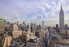 Renaissance New York Midtown Hotel Rooftop Patio View